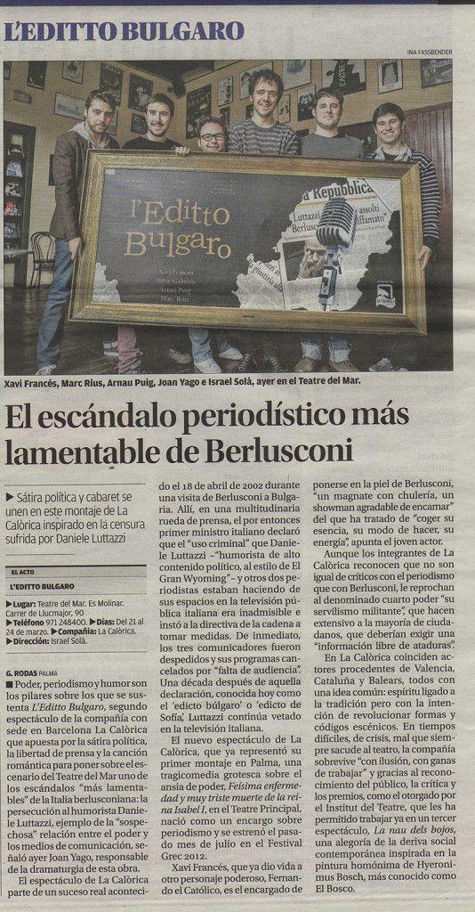 Diario de Mallorca 21 mar 2013