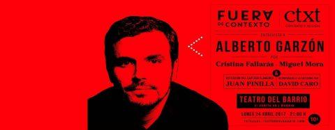 Fuera de Contexto – Entrevista a Alberto Garzón + concierto de Juan Pinilla & David Caro