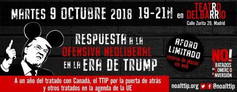 MARTES CIUDADANOS – Campaña «NO a los tratados de comercio e inversión»