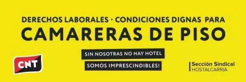 Rueda de prensa – SIN NOSOTRAS NO HAY HOTEL. Huelga de camareras de piso