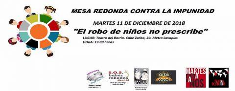 MARTES CIUDADANOS – El robo de niños no prescribe. MESA REDONDA