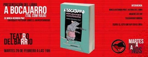 MARTES CIUDADANOS – Presentación del libro «A BOCAJARRO (TAL COM RAJA)»