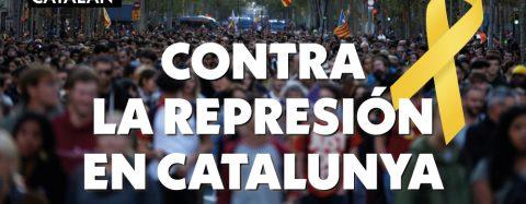 Acto contra la represión en Catalunya