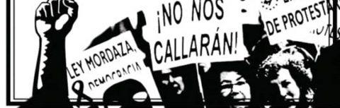 Rueda de prensa contra la ley mordaza y la represión
